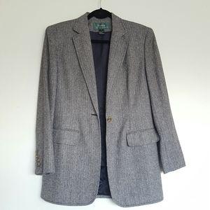 Ralph Lauren herringbone tweed boyfriend blazer